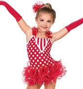 Girls Polka Dots, Checks and Stripes Costume Dress