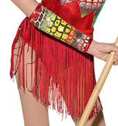 Girls Jungle Fever Costume Fringe Skirt