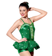 Girls Baby Its Cold Outside Romper Costume in Kelly Green