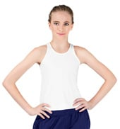 Girls Solid Racerback Tank Top