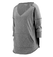 Ladies Plus Size Long Sleeve Slub Tee