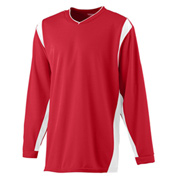 Adult Plus Size Unisex Long Sleeve Warmup Shirt