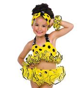Girls Yellow Polka Dot Bikini