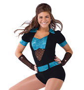 Adult Plus Size Shake Your Body Short Sleeve Unitard