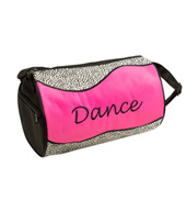 Silver Sizzle Duffle Dance Bag in Hot Pink