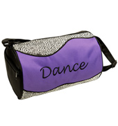 Silver Sizzle Duffle Dance Bag in Purple