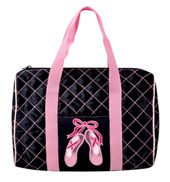 Quilted on Pointe Dance Bag in Black