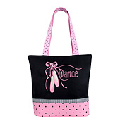 Pointe Shoe & Ribbons Tote