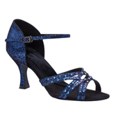 "Ladies ""Crystal Katusha"" 2.5"" Latin/Rhythm Ballroom Shoe"