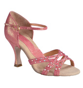 "Ladies ""Crystal Katusha"" 3"" Latin/Rhythm Ballroom Shoe"