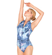 Adult Printed Mesh Tank Leotard