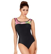 Adult Fusion Mesh Tank Leotard