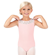 Child Floral Lace Tank Leotard