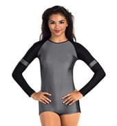 Adult Two-Tone Long Sleeve Biketard