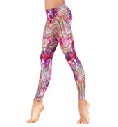 Child Rainbow Swirl Leggings