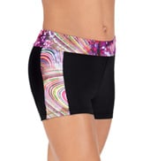 Child Rainbow Swirl Shorts