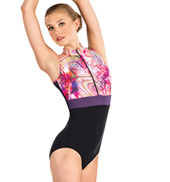 Adult Rainbow Swirl Zip Front Leotard