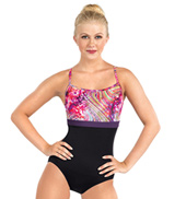 Adult Rainbow Swirl Camisole Leotard