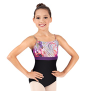 Child Rainbow Swirl Camisole Leotard