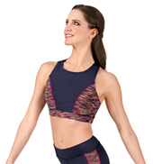 Adult Space Dye Tank Racerback Bra Top