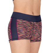 Girls Space Dye Spliced Short