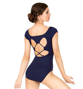 Adult Strappy Back Short Sleeve Leotard