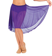 Child Mid Length High-Low Mesh Dance Skirt