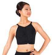 Adult Zipper Front X-Back Crop Dance Top