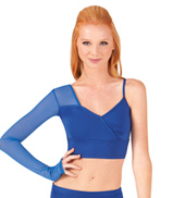 Adult Asymmetrical Faux Wrap Crop Top