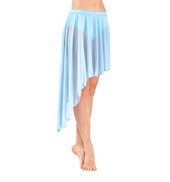 Adult Mid Length Asymmetrical Mesh Dance Skirt