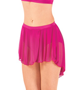 Adult High-Low Mesh Dance Skirt