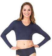 Adult Basic Long Sleeve Crop Top