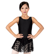 Girls Sweet Lace Tank Dress