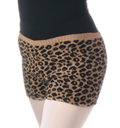 Adult Cheetah Print Dance Short