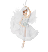 Feather Porcelain Ballerina Ornament