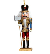 Glitter Wooden Nutcracker Ornament