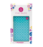 Kendra Turquoise Print Slim Power Charger
