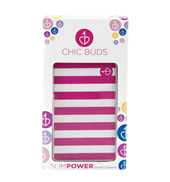 Sophie Pink/White Stripe Slim Power Charger