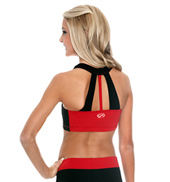 Adult V-Neck Triple Back Strap Crop Top