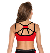 Adult V-Neck Cheer Tank Crop Top