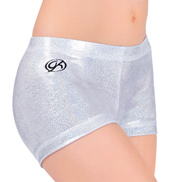 Girls White Sparkle Cheer Short