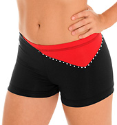 Adult Offset V Jewel Cheer Short