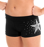 Child Sequins Star Cheer Short