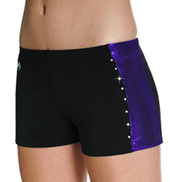 Girls Side Stripe Cheer Short