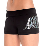 "Adult ""Zebra Sequinz"" Low Rise Cheer Short"