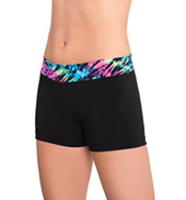 Girls Prismatic Print Waistband Cheer Shorts