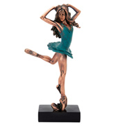 Green Dress Ballerina Figurine