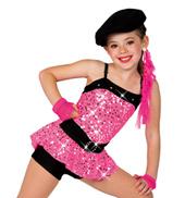 Girls/Adult Sassy Girl 2 in 1 Costume
