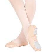 Girls Leather Split-Sole Ballet Slipper