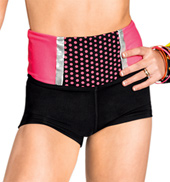 Girls Short Circuit High Waist Dance Short